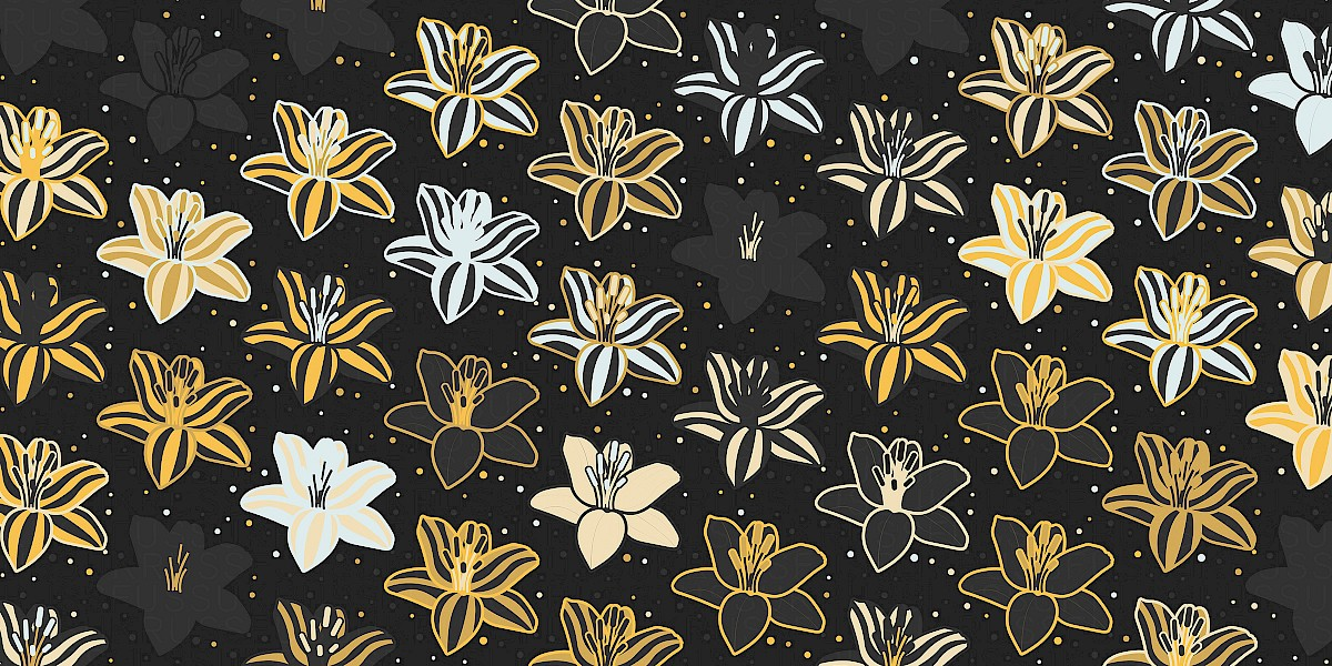 Golden Humbug Pattern Design by Russfuss